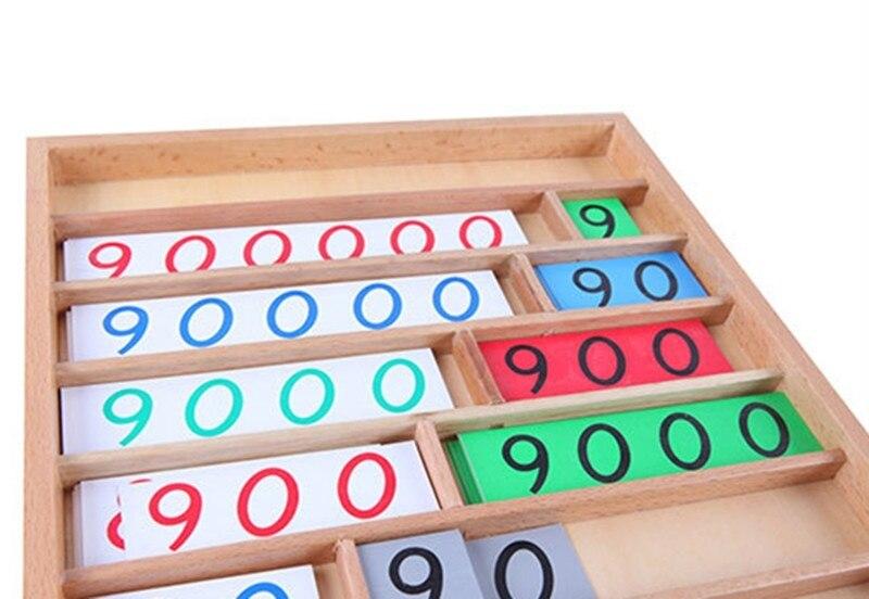 Nouvelle boîte en bois bébé jouet Montessori bois banque jeu mathématiques petite enfance éducation préscolaire formation enfants bébé cadeaux - 2