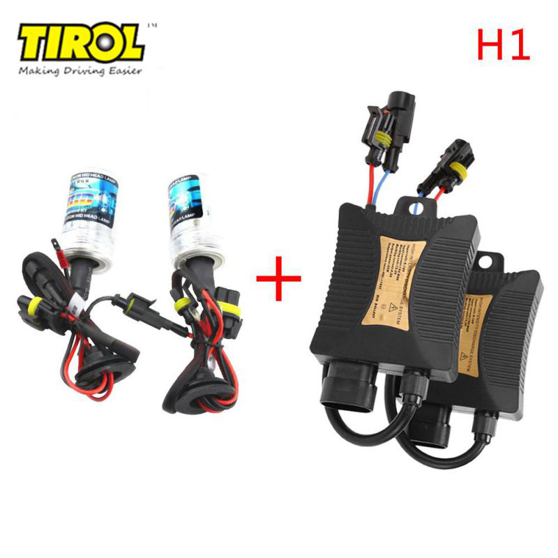 Car Auto Headlight Light H1 HID Xenon Head Light Conversion KIT 3000K-12000K 12V 55W 55w hid bulb ballast xenon kit 12v dc car conversion headlight head light 3000k 15000k for genesis coupe 2013 free shipping