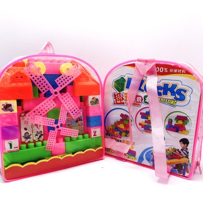 1Set DIY Assembling High-quality Plastic Building Blocks Intelligence Enlightenment Back Packing Early Learning Kids Toys Gifts