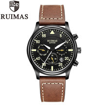 Ruimas Business Watch Men Automatic Luminous Clock Tourbillon Waterproof Mechanical Top Brand Relogio Masculino