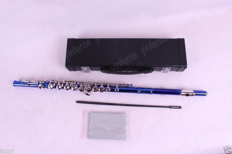 flute professional Model New flute 16 hole closed Hole Woodwind Purple E key #6 excellence color 16 closed hole purple flute e case c key
