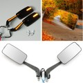 1 Pair 8mm 10mm CNC LED Integraded Left Right Motorcycle Rear View Side Mirrors for 7/8 Inch Thread
