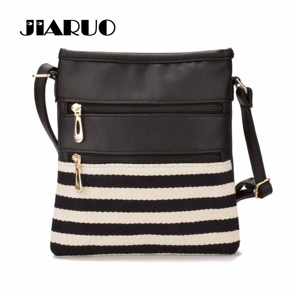 JIARUO Printed Handbags Messenger-Bag Canvas Bag Ladies Patchwork Women Small Girls Casual