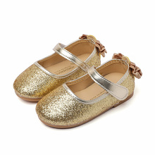 Spring Autumn Little baby girl flat shoes Childrens Bling Sequins Girl Princess dancing Kids soft-soled Shoes