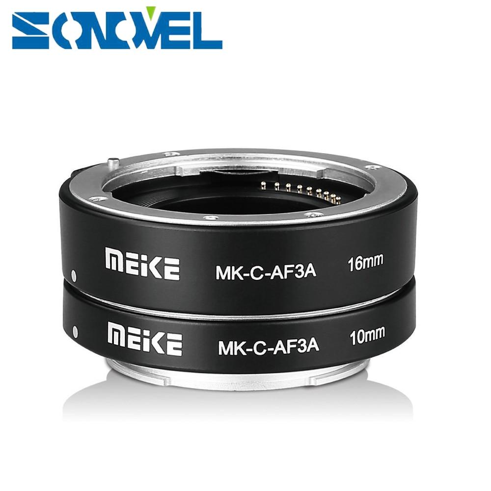 Meike MK C AF3 DG Auto Focus Automatic Macro Extension Tube 10mm 16mm for Canon EOS M M1 M2 M3 M5 M6 M10 EF M Mirrorless Camera