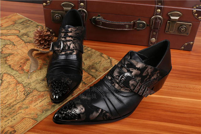 ntparker-Fashion Man Shoes Designers Leather Dress Shoes Height Increased Elevator Business Shoes Men Party Big Size 45 46