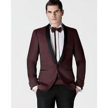 Custom Made Groomsmen Shawl Black Lapel Groom Tuxedos New Style Men Suits Wedding Best Man Jacket