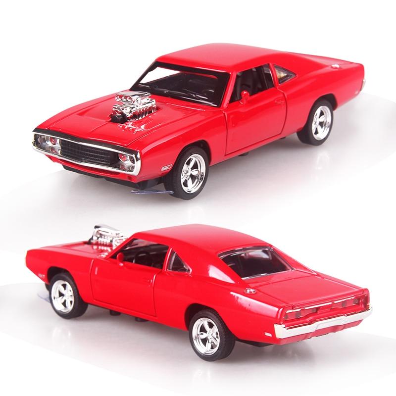 1:32 Scale 16.5CM Fast & Furious7 Alloy Cars Dodge Pull Back Dyscast - Bilar och fordon - Foto 4