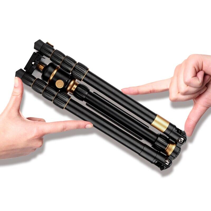 Q888 digital 1520 millimetri macchina fotografica del telescopio treppiede portatile 360 millimetri piegato alluminio video della macchina fotografica del basamento per videocamera digitale & DSLR monopiede foto - 2