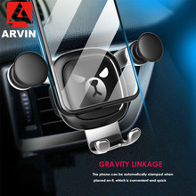 Arvin Universal Gravity Car Holder For Phone in Air Vent Clip Mount Mobile Cell Stand Support iPhone X XR 7