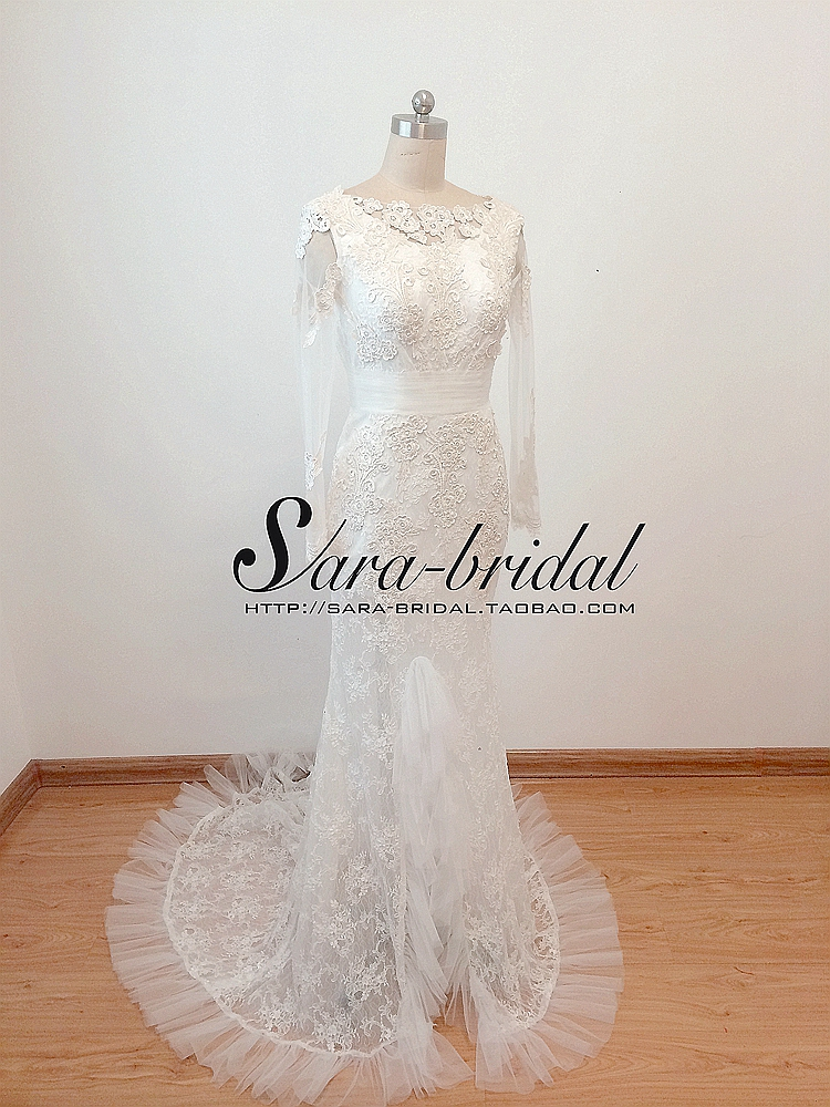 2018 New Fashion Appliques Mermaid V Back Lace With Long Sleeve Robe De Mariage Vestido De Noiva Mother Of The Bride Dresses