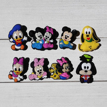 80pcs Hot Cartoon PVC Shoe Buckle Shoe Charms Fit Croc For Shoes&wristbands with Holes Furniture Accessories Kids Party Supplies