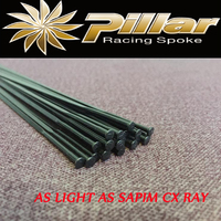 Super light PILLAR PSR 1420/1422 J HOOK/bend or Straight pull/head Aero Bladed Spokes with Alloy Nipples for Road/Mountain Bike