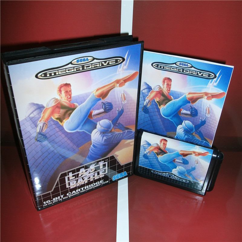 Last Battle EU Cover with Box and Manual For Sega Megadrive Genesis Video Game Console 16 bit MD card
