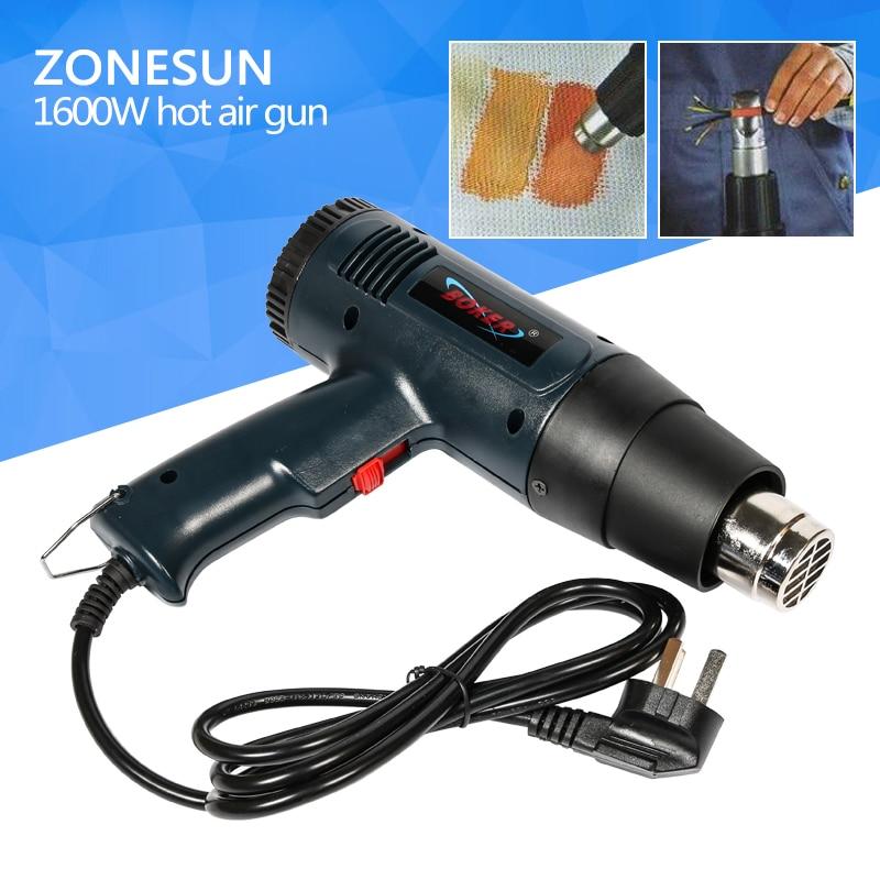 ZONESUN Hot air blower gun shrink tube heat shrinkable tube shrink good assistant tool retardant heat shrink tubing shrinkable tube diameter cables 120 roll sale