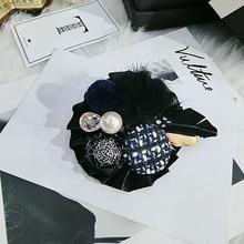 Handmade fashion fur bowknot rhinestone brooches for women vintage checker button hairy brooch pins jewelry цена 2017