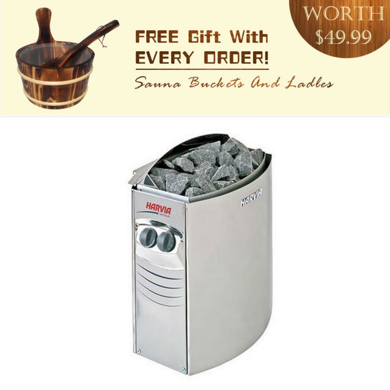 BC30 3KW Original Harvia sauna heater VEGA COMPACT Internal-controlled including a Sauna barrel pails and ladles for Asian free shipping original harvia bc90 9 0 kw internal controlled and a full set burned pails