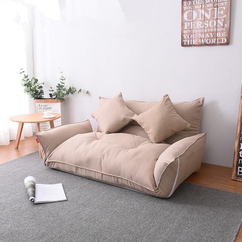 Details about Floor Furniture Reclining Japanese Futon Sofa Bed Modern  Folding Adjustable