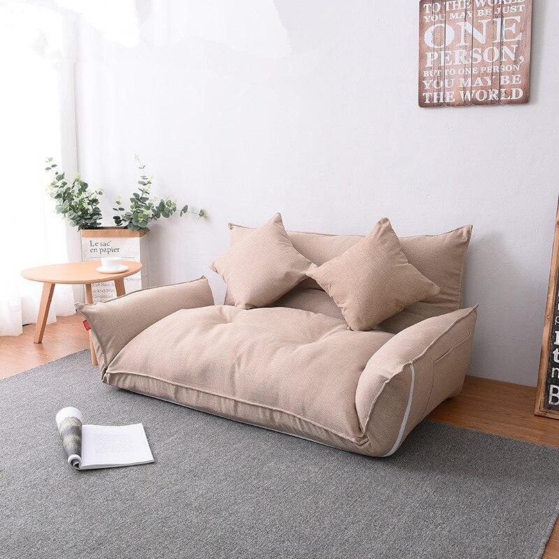 Пол мебели лежащего японский футон диван кровать современный складной регулируемый Sleeper шезлонги кресло для Гостиная диван