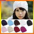 10x 2017 Winter New Ladies Women Cable Knit Knitted Crochet Beanie Hat Cap Cindy Colors