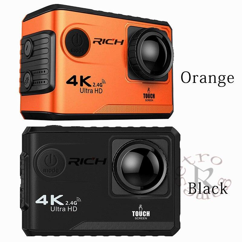 DHL 10 pcs/lot F100B caméra d'action 4 K Ultra HD 2.4G Wifi Mini caméra 2.0 écran tactile 1080 P caméra vidéo casque extérieur Camara