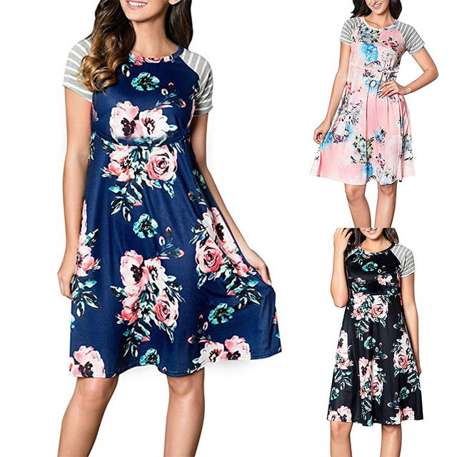 Maternity Dress Maternity Clothes Pregnancy Sleepwear Pregnant Casual Floral  Falbala Pregnants Clothing Comfortable S M L XL 2XL 8a90071a5