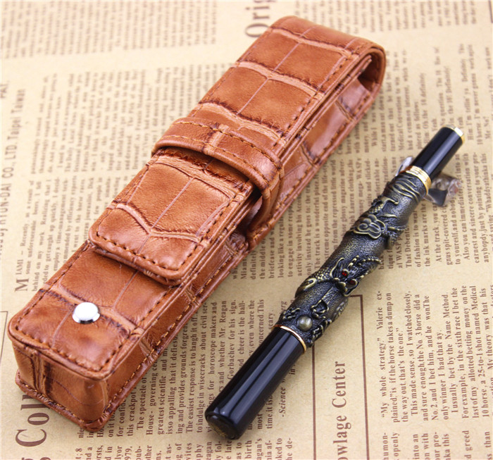 send a refill ballpoint Pen metal School Office supplies dragon roller ball pens high quality luxury business gift 003 jinhao rare golden double dragon pattern roller ball pen luxury stationery school office supplies brand writing gift pens
