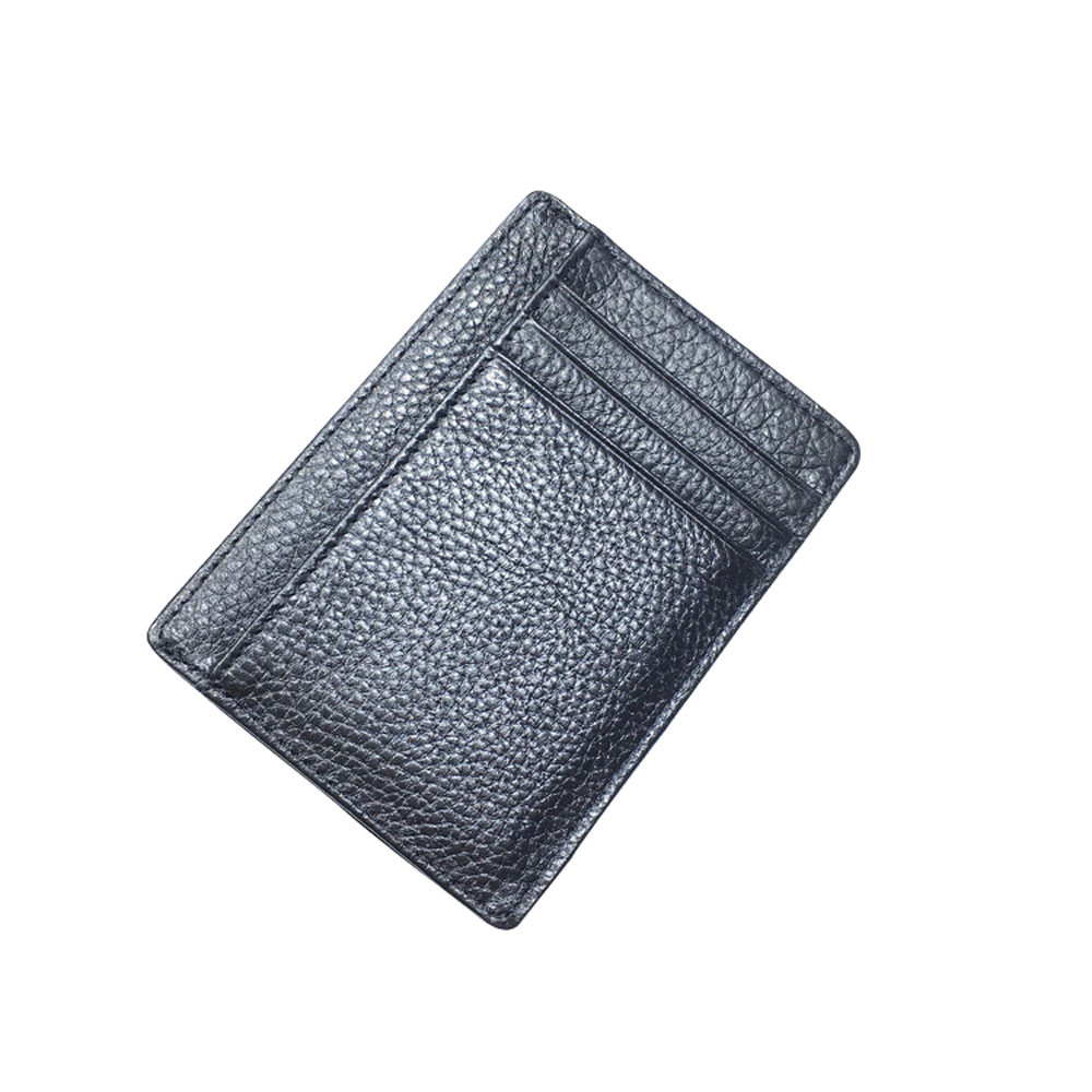 Minimalist Leather Wallet RFID Front Pocket Wallet open bags for women 2018 Leather Fashion card holder