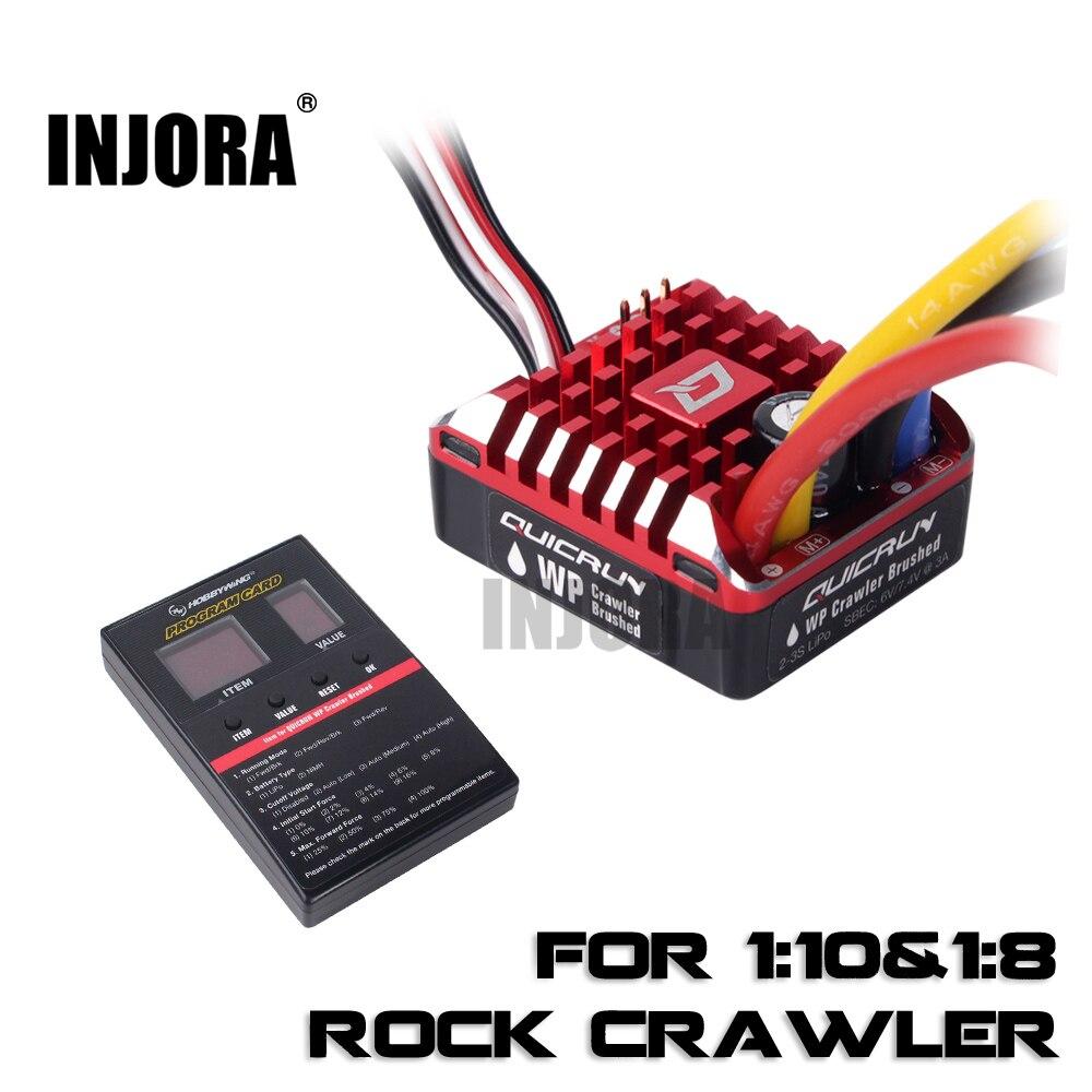RC Auto QUICRUN 1080 80A Impermeabile Brushed ESC Regolatore di Velocità con Carta di Programma per RC Crawler Traxxas TRX4 Assiale SCX10 90046