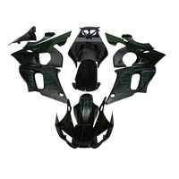 Motorcycle Green Flame Plastic Fairing Bodywork For Yamaha YZF R6 YZF R6 1998 2002