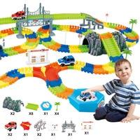 BabyAngel Mini Road Luminous Flexible Railroad Railway Magical 28 96 144 192PCS Boy S Car Toy