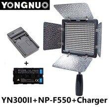 Yongnuo yn300 ii yn-3200 k-5500 k 2300 mah np-f550 ile pro led video işığı aydınlatma w/şarj canon nikon kamera için