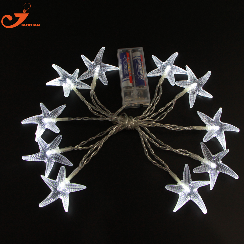 starfish lighting novelty lights scallop shells string light seashell garland decorative beach decorations seagypsys battery in holiday lighting from lights