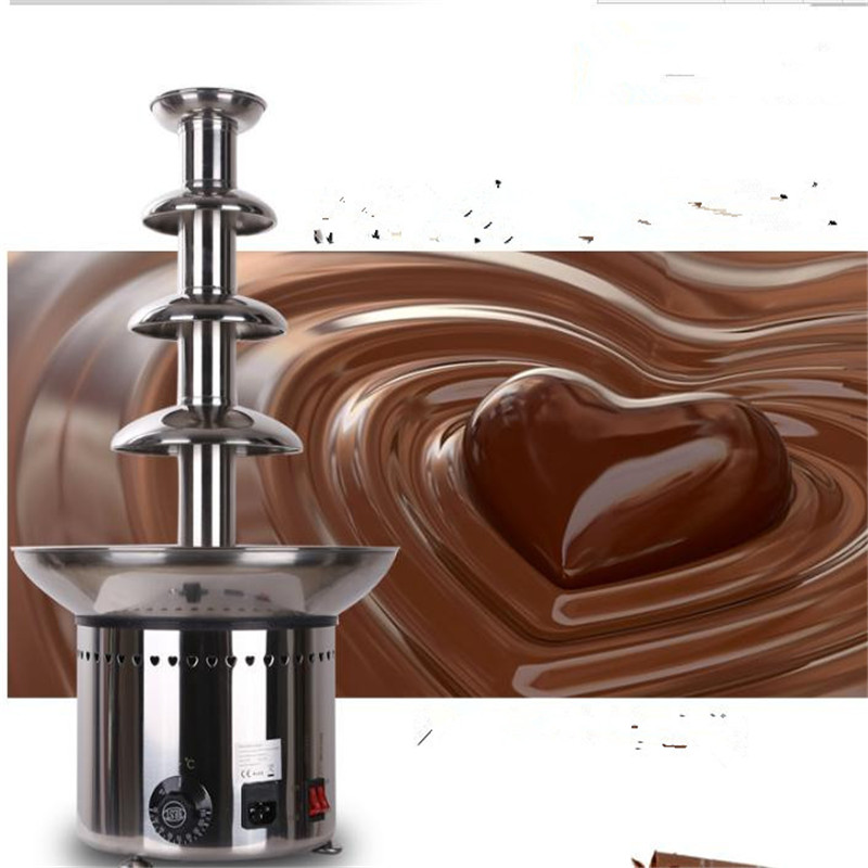 4 Tiers 60cm 304# Stainless steel Chocolate fountain machine D20096 for Commercial company & home used, free shipping fedex good quality stainless steel 304 103cm 7 tier commercial chocolate fountain self melting