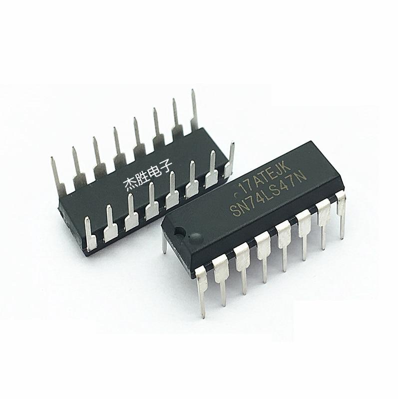 10PCS SN74LS47N DIP16 SN74LS47 DIP 74LS47N 74LS47 New LED Display Driver 7-segment Display