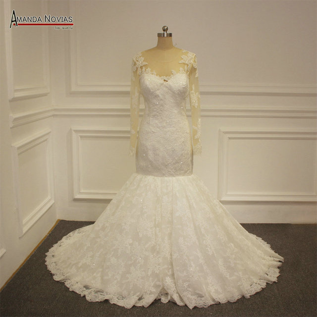 New lace mermaid wedding dresses shopping sales online-in Wedding ...