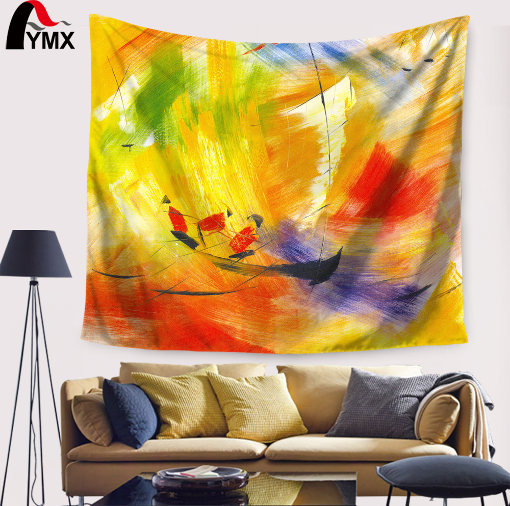 Bird Scenic Art Patterns Tapestry Wall Hanging Polyester Fabric ...