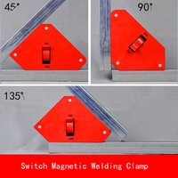 35LBS 55LBS 強力な単一のスイッチネオジム溶接マグネットホルダーオン/オフスイッチ磁気クランプ/マグネット正方形 45 90 135 度