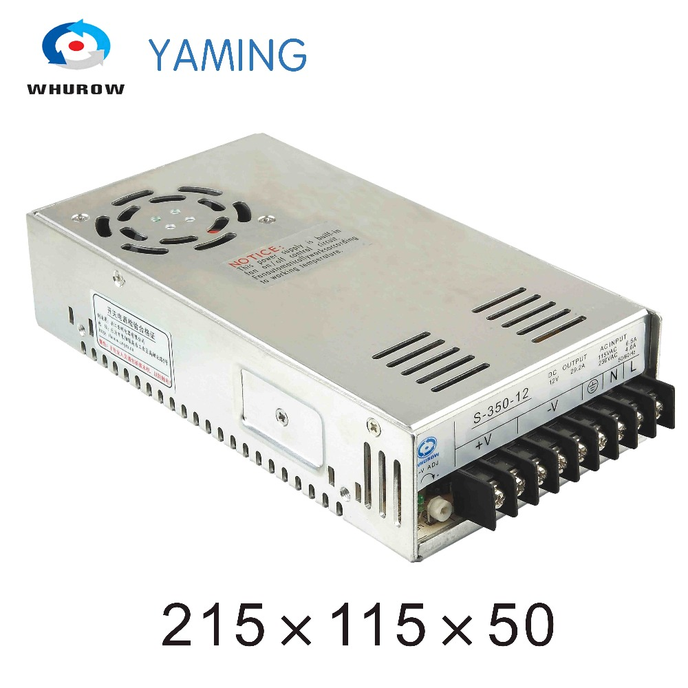 Yaming elecreic S-350-12 Single output 12v 29a 350W AC/DC Computer Switch Power Supply for LED Strip light YMS-350-12 20pcs 350w 12v 29a power supply 12v 29a 350w ac dc 100 240v s 350 12 dc12v