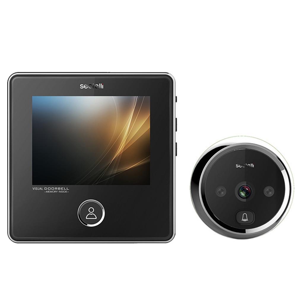 Electronic LCD Color Digital Visual Door Chimes Wireless Home Security Smart Doorbell Multifunction