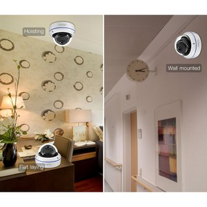 Image 4 - غادينان 5MP 3MP 2MP H.265 IP كاميرا مراقبة مراقبة الأشعة تحت الحمراء ليلة فيديو مخرب واقية في الهواء الطلق CCTV كاميرا بشكل قبة تيار مستمر 12 فولت/48 فولت PoE