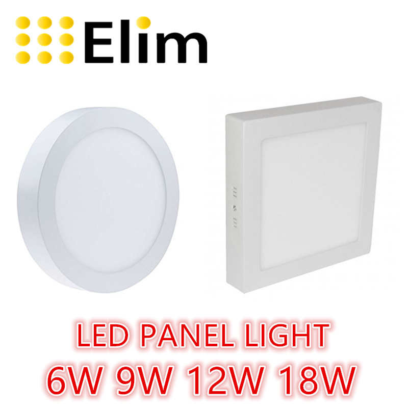 Free Shipping LED Panel Light  Round Square 6W 12W 18W 24W Ceiling Recessed Grid Downlight
