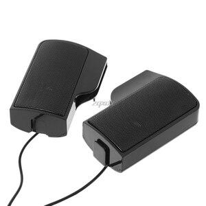 Image 3 - 1 Paar Mini Draagbare Clip On Usb Stereo Luidsprekers Lijn Controller Soundbar Voor Laptop Notebook Mp3 Pc Computer Met clip