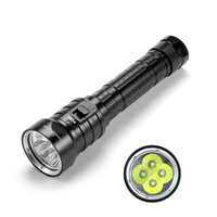 SolarStorm DX4S LED Diving Flashlight IPX8 Waterproof 4 x XM-L L2 LED Torch Submarine Lamp 3 Modes 4500 Lumens Flashlights