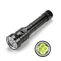 SolarStorm DX4S LED Diving Flashlight IPX8 Waterproof 4x CREE XM L L2 LED Torch Submarine Lamp 3 Modes 8000 Lumens Flashlights