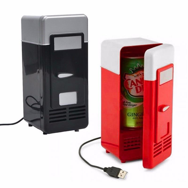 미니 USB 냉장고 사무실 쿨러 음료 음료 캔 쿨러 따뜻한 휴대용 냉장고 USB 가제트 노트북 PC 용