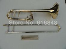 Высокий уровень Тромбон серебро и золото покрытием конический ВВ тон Тромбон Эдвард бемоль труб обращается Тромбон Музыкальные инструменты
