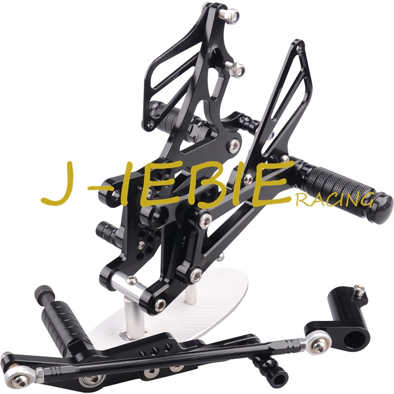 CNC Racing Rearset Adjustable Rear Sets Foot pegs Fit For Yamaha YZF R1 2007 2008 BLACK morais r the hundred foot journey