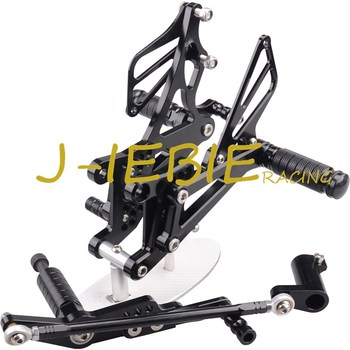 CNC Racing Rearset Adjustable Rear Sets Foot pegs Fit For Yamaha YZF R1 2007 2008 BLACK