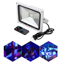 20W remote control Stage light Party DJ Club UV High Power LED Floodlight 90V-240V 120 degrees Beam Angle with CR2025 Battery